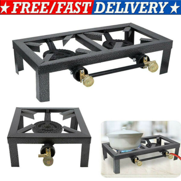 Single Double Burner Propane Gas Stove Portable Camp Stove Outdoor Cooking BBQ