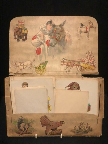 Vintage Whitman Picture Stationary for Children 14 envelopes 16 sheets Very Cute $18.50