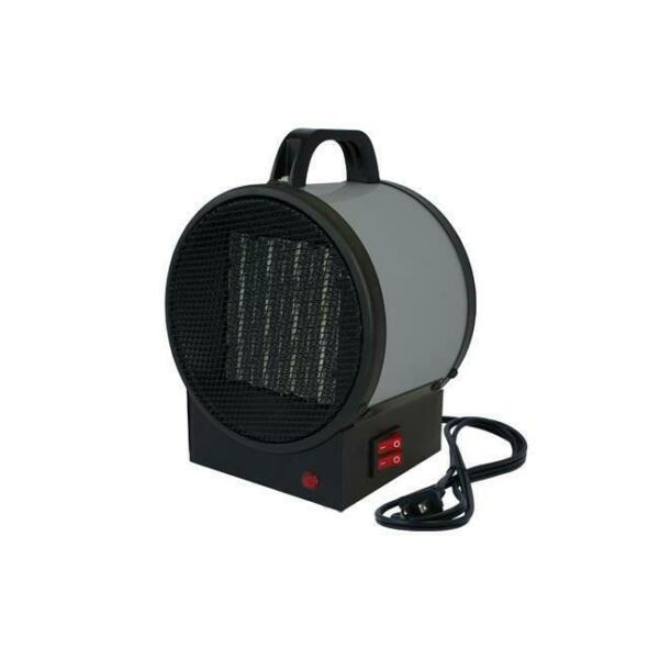 King Electric Utility Ceramic Heater Indoor Portable Heating Machine Grey 1500W