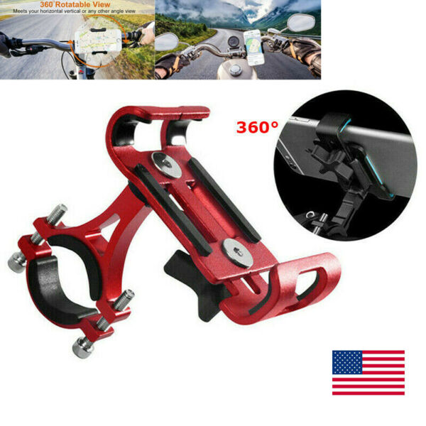 360° Rotation Aluminum Motorcycle Mountain Bike Bicycle Stand Phone Holder Mount $10.49