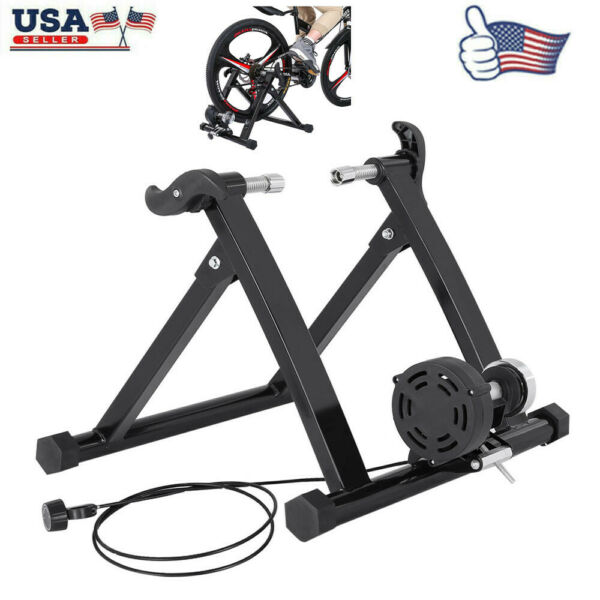 Front Bike Trainer Stand Steel Bicycle Exercise Magnetic Stand Black Quick US $90.99