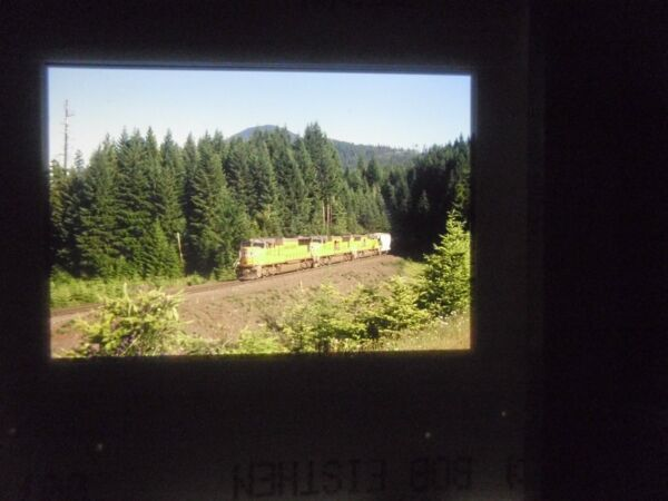 Original Slide train RR Freight UP Oregon SLIDE curve turn junction Tunnel