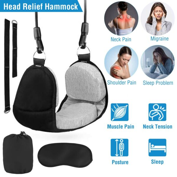 Hammock for Head Neck Pain Relief amp; Portable Cervical Traction Device Stretcher $15.21