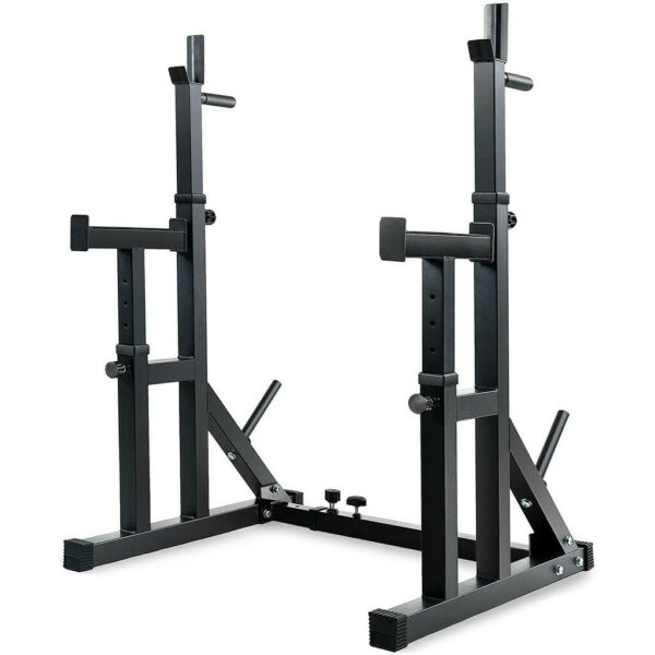 Adjustable Squat Rack Stands Multifunction Barbell Bench Press Dipping Station $154.99