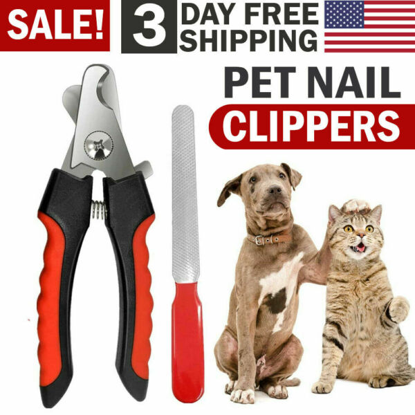 Pet Nail Clippers Dog and Cat Nail Trimmer Cutter Scissors Claws Cutting Tool $7.89
