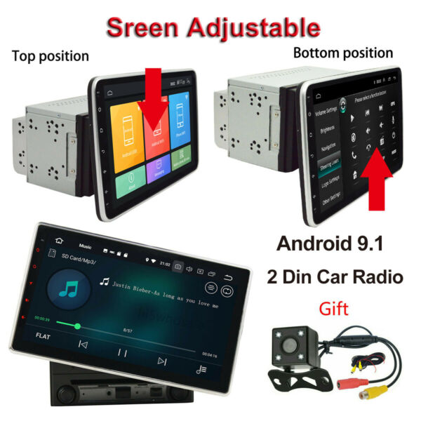 Double 2 Din 10.1inch Android 9.1 In Dash Car Radio Stereo GPS WiFi Quad Core FM $197.39
