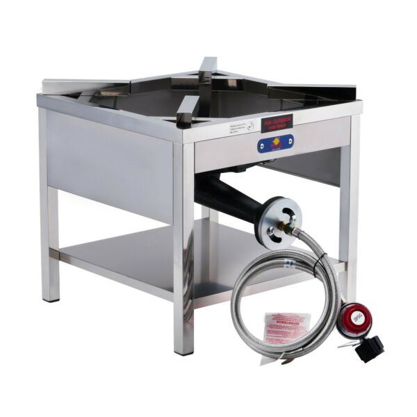 200000 BTU Outdoor High Pressure Stainless Steel Propane Gas Burner Stove