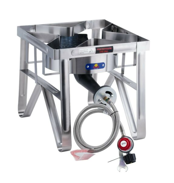 200000 BTU Stainless Steel Outdoor Camping Propane Burner Stove Gas Cooker