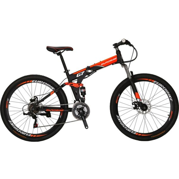 27.5quot; Full Suspension Folding Bike Mountain bike 21 Speed Bicycle Mens L $288.00