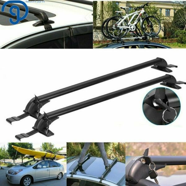 Universal Car Top Roof Rack Cross Bar 43.3quot; Luggage Carrie Adjustable Aluminum $49.99