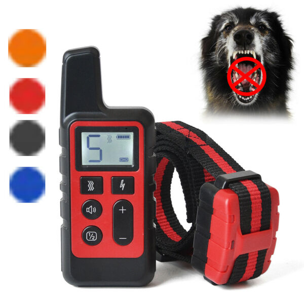 Yard Remote Electric Dog Shock Collar Waterproof IP67 Pet Anti Bark Training US