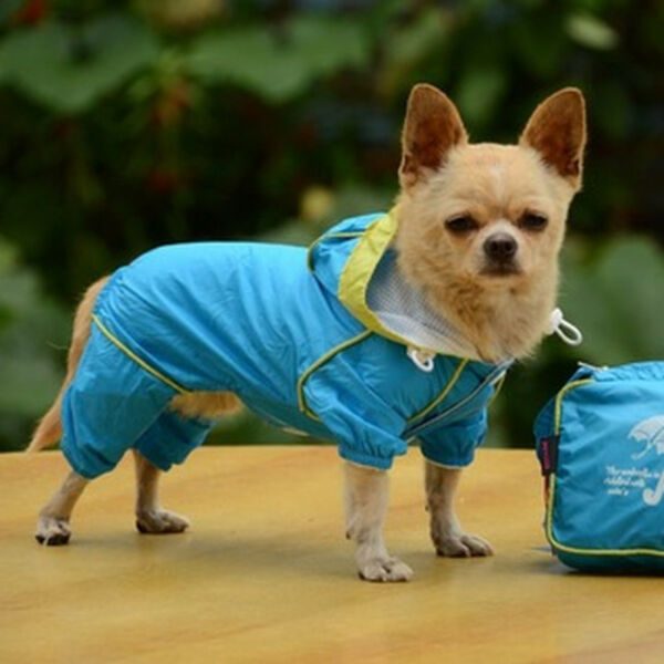 US Pet Rain Coat for Small Puppy Dogs Jacket Cute Casual Waterproof Dog Clothes $10.65