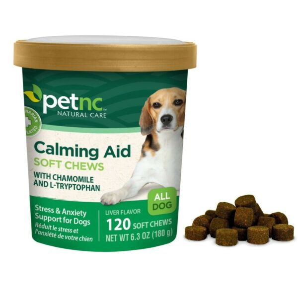 Dog Calming Soft Chews Anxiety Stress Relief Dogs Behavior Support Calm Aid $16.98