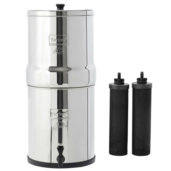 Big Berkey Water System With Black Filters and or Fluoride Filters 2.5 Gal $278.00