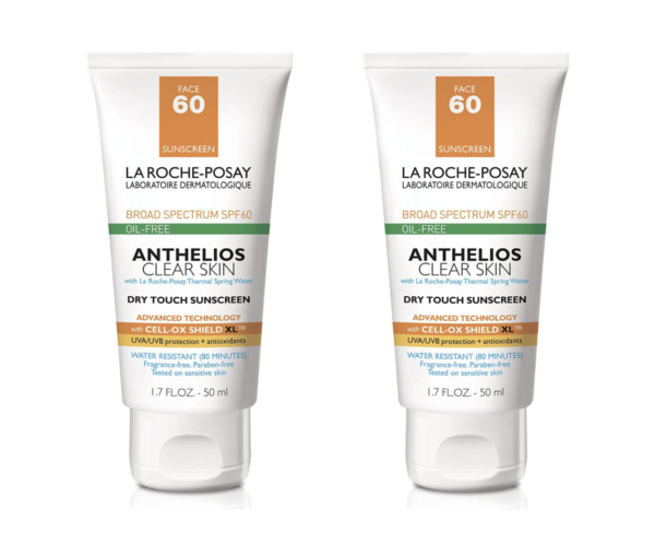2 Pack La Roche Posay Anthelios Clear Skin SPF 60 Sunscreen 1.7 oz Exp. 2022