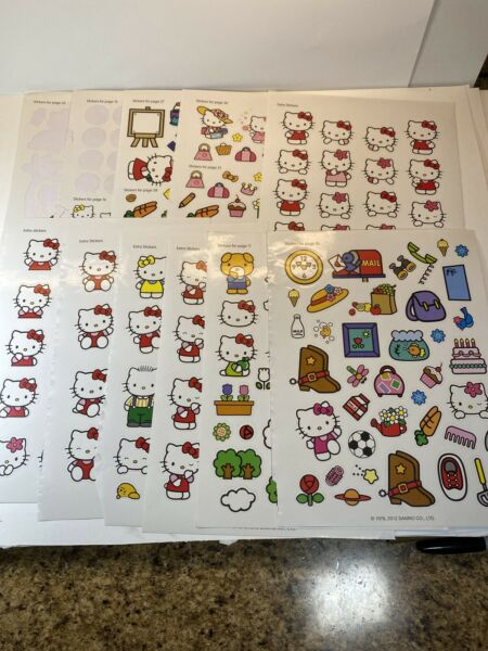 Hello Kitty Sanrio Lot Of 10 Stickers Sheets 2012