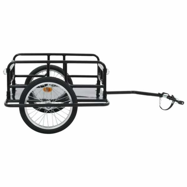 USA Bike Cargo Trailer 51.2quot; Steel Black Bicycle Vehicle Sporting Accessory $139.88