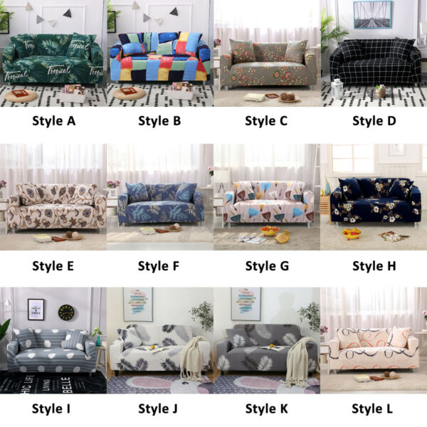 1 2 3Seater Printed Slipcover Sofa Cover Spandex Stretch Elastic Couch Protector $22.55