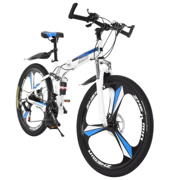26 inches Mountain Bike Carbon Frame 21 Speed Bicycle Full Suspension MTB Bike $127.75