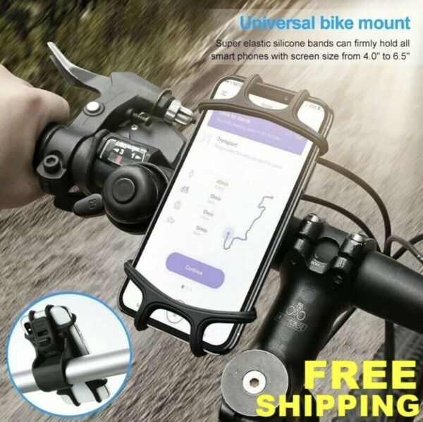 Bicycle Motorcycle MTB Bike Handlebar Silicone Mount Holder for Cell Phone GPS $4.99