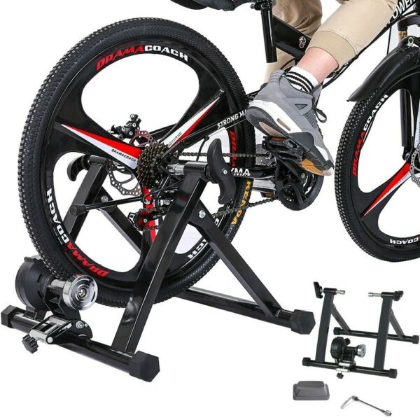 Child Bike Trainer Stand Magnetic Bicycle Stationary Stand For Indoor Exercise $75.99