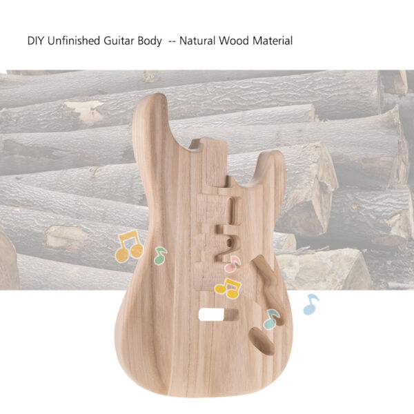 ST01 TM Unfinished Handcrafted Guitar Body Candlenut Wood Replacement Parts DIY $30.99