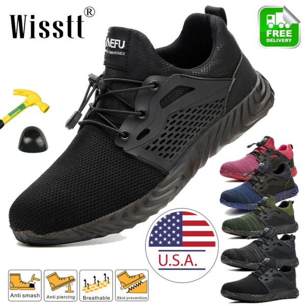 Women#x27;s Indestructible Bulletproof Sneakers Safety Work Shoes Steel Toe Boots US $34.18