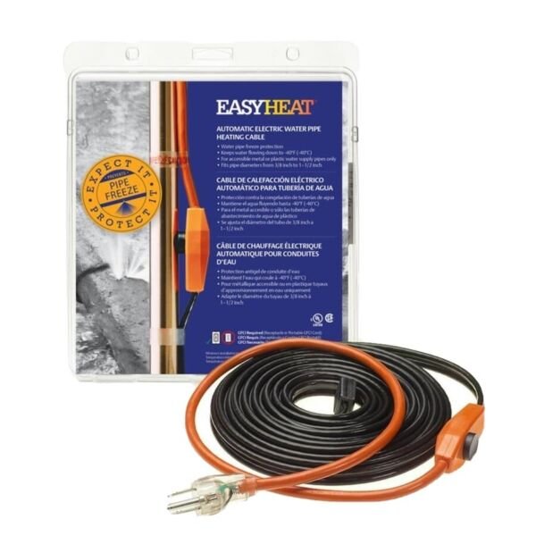 Easy Heat 24' Electric Heated Cable Heat Tape Pipe Freeze Protection AHB124 $19.99