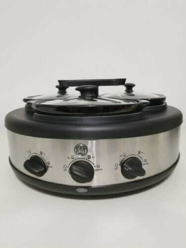 DINNER IN THE MORNING WITH GE 3 CROCK SLOW COOKER.