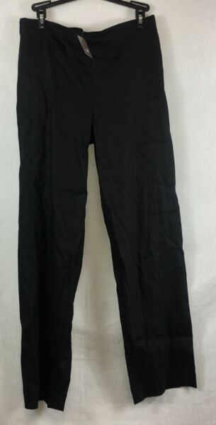 NEW J. Jill Black Easy Linen Stretch Flat Front Pants Size 6 $19.95