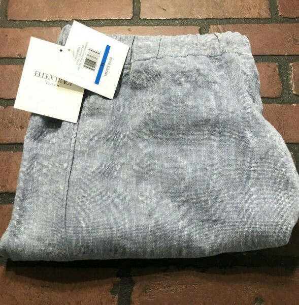 Ellen Tracy Linen Stretch Pants Women#x27;s Size XL $19.96