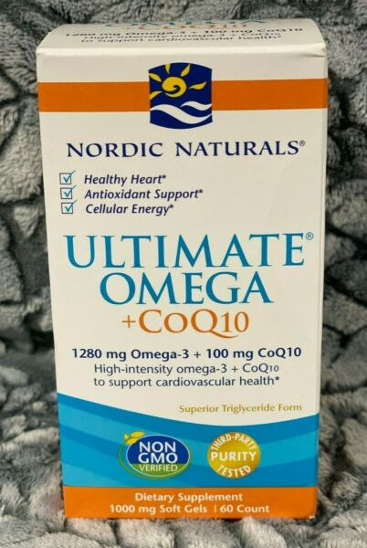 NEW SEALED Nordic Naturals Ultimate Omega CoQ10 1000mg 60 SOFTGELS EXP:05 22^ $16.50