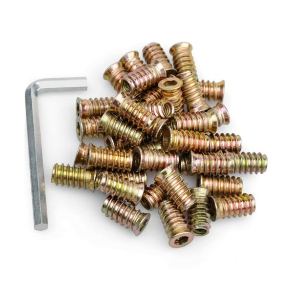 40Pcs Anwenk 1 4quot; 20 x 20mm Furniture Screw in Nut Threaded Wood Inserts Bolt... $17.20