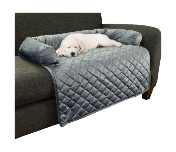 PETMAKER Furniture Protector Pet Cover with Bolster Gray Diamonds Large $46.32