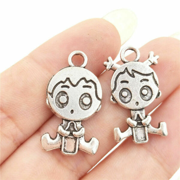 Mixed Set 6 New BABY Charms Tibetan Silver Alloy ONE of each shown FREE SHIP $2.75