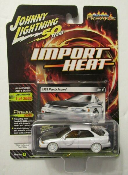 Johnny Lightning 50 Years Import Heat White Lightning 1995 Honda Accord Gold MIP $29.95