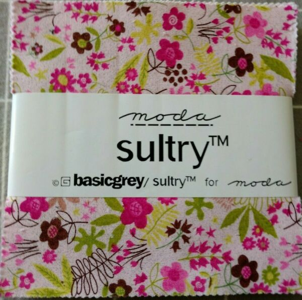 Moda Sultry charm pack 40 5 inch squares quilting sewing collectible older