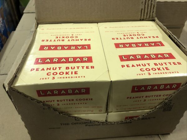 64ct Larabar Fruit And Nut Food Bars Gluten Soy Dairy Free Peanut Butter Cookie