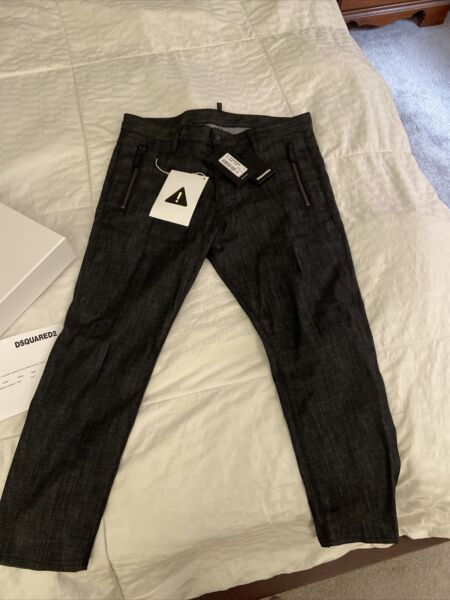 Dsquared2 Men's jeans resin Treatment Skinny Techno Jeans 50 $180.00