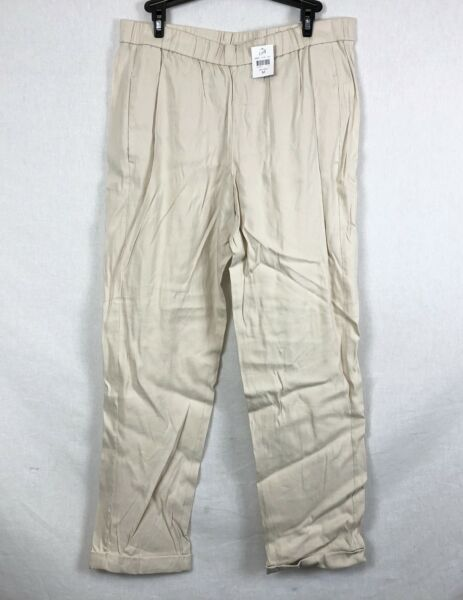 NEW J. Jill Sea Salt Easy Linen Stretch Pants Size S $19.95