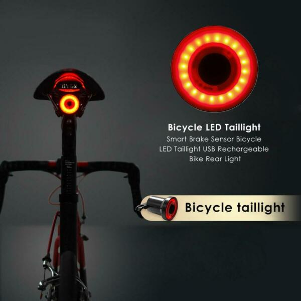 XLite 100 Waterproof USB LED Taillight for Bike Smart Brake Sense Warning Light $11.61
