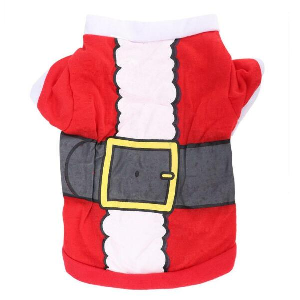 Christmas Pet Dog Clothes Xmas NEW Year Costumes Winter Coat Puppy Outfits $6.45