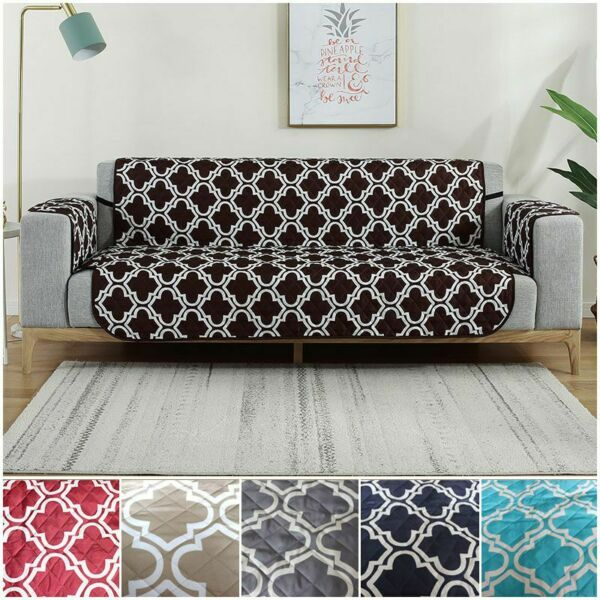 Reversible Quilted Sofa Cover Slipcover Loveseat Chair Couch Pet Mat Protector $29.99