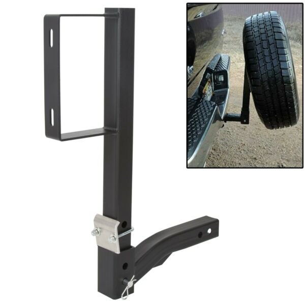 RV Truck Receiver Hitch Spare Tire Mount Heavy Duty Steel Powder Coated Black $75.00
