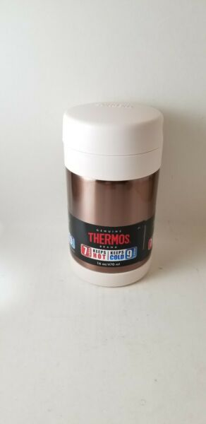 Thermos Funtainer 16oz. Stainless Food Jar Container Rose Gold... New