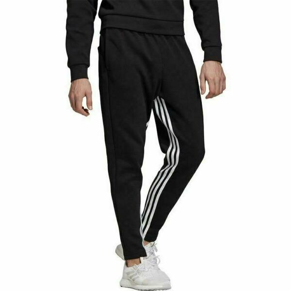 DX7651 Mens Adidas Must Haves 3 Stripes Tapered Pants $41.99