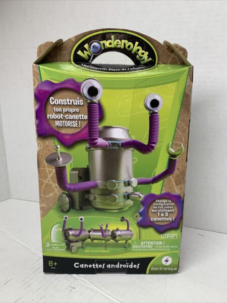 Wonderology Pop Can Robot Build Own Motorized Tin Can Robot