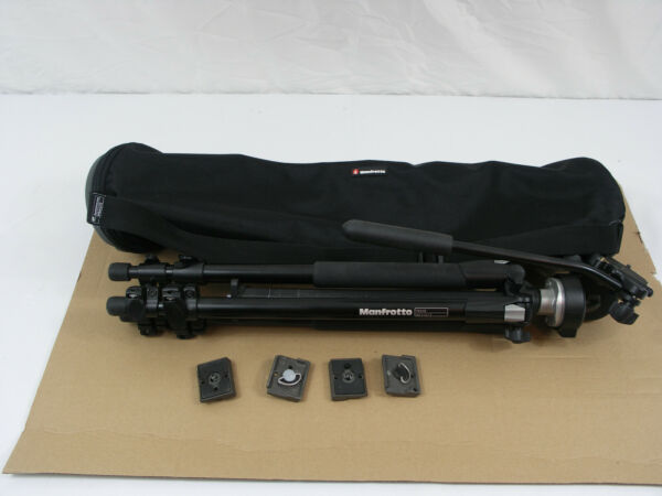 Manfrotto 190XB Tripod witth 128RC Head amp; 4 Quick Connect Mounts in MBAG70 Bag