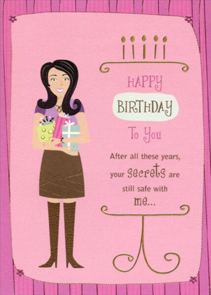 Your Secrets Are Safe With Me Funny Humorous Birthday Card for Her $3.49