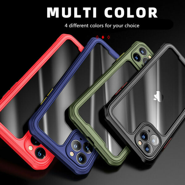 Case For iPhone 12 Pro Max 11 XS Clear Phone Cover Hard Back Shockproof Luxury $8.70